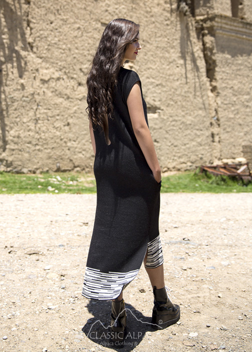 01a77b0af6b Alpaca Cardigans  Alpaca Jacquard Long Sweater Dress