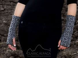 Glacier Alpaca Fingerless Gloves