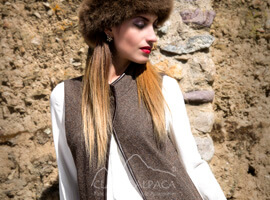 Royal Alpaca Lady Pocket Coat Vest