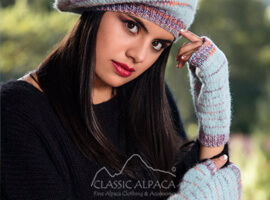 Brushed Alpaca Fingerless Gloves
