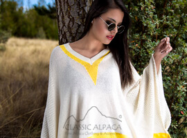 Cotton Baby Alpaca Breeze Poncho Cape