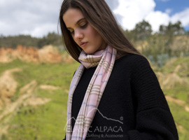 Woven & Brushed Scottish Royal Alpaca Scarf