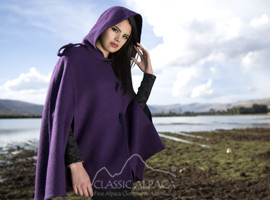 Alpaca Reversible Riding Hood Cape