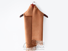 Woven & Brushed Double Face Baby Alpaca Scarf-Heavy Weight