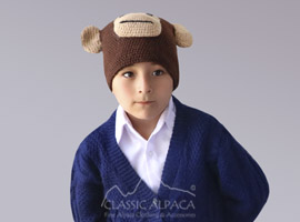 Alpaca Kids-Monkey Hat