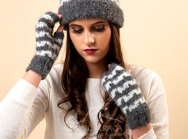 Utah Brushed Alpaca Fingerless Gloves