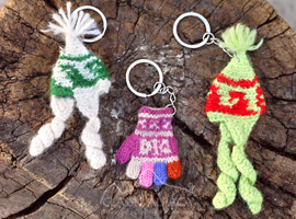 Tiny Alpaca Knit keychain
