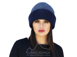 Unisex Reversible knit English Alpaca Hat