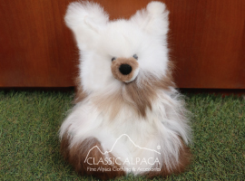 BABY ALPACA FUR- Standing Bunny Ornament 10 inches