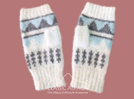 Colette Brushed Alpaca Fingerless Gloves