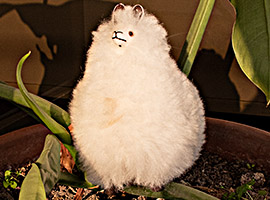 BABY Alpaca Fur-Peruvian Ornament 7 inches