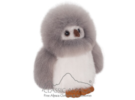Baby Alpaca Fur - Owl Ornament 9""