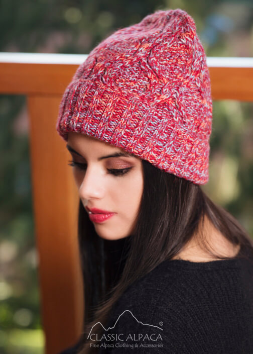Quebec Cable Alpaca Knit Hat
