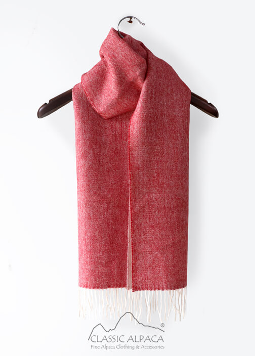 Woven & Brushed Double Face Baby Alpaca Scarf