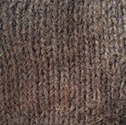 Justin Cable Alpaca Hat in Brown Melange