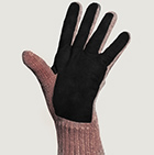 Alpaca Double Layer Driving Gloves in Henna Mlge.-Black