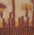 Embroidered Garden Alpaca Hat - Fleece Lining in Beige