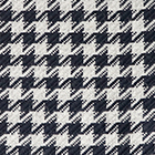 Woven & Brushed Houndstooth Baby Alpaca Scarf in Navy-Lt.Grey