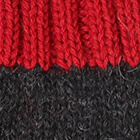 Tassel Baby Alpaca Hat in Charcoal.-Red