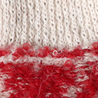 Shipibo Alpaca Boucle Gloves in Red-Beige