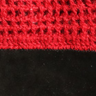 Alpaca Crochet Gloves Driving in Red-Black