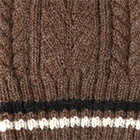 Angelle Alpaca Knit Hat in Brown Heather