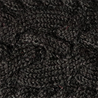 Braided knit Alpaca Headband in Black