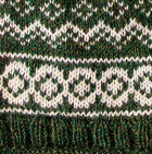 Arctic Alpaca Hat - Fleece Lining in  Green Mlge.