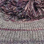 Brushed Striped Alpaca Hat in Lt. Grey