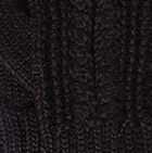 Classic Cable Alpaca Gloves in Black