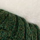 Priscilla Alpaca Fur Pompom Hat in Green Mlge
