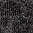 Men's Double Knit English Alpaca Hat in Charcoal